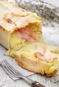Kartupeļu pīrāgs ar bekonu
