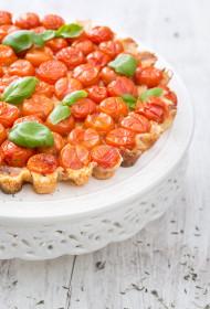 Ķiršu tomātu tarte