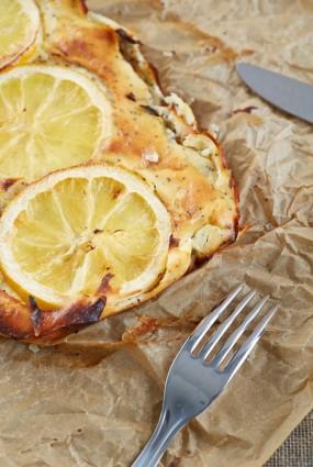 Biezpiena sacepums ar magonēm un citronu
