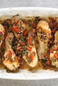 Cepeškrāsnī ceptas vistu kājiņas ar dārzeņu salsu – GALETO AL PRIMO CANTO
