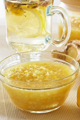 Imunitātes zapte no medus, ingvera un citrona