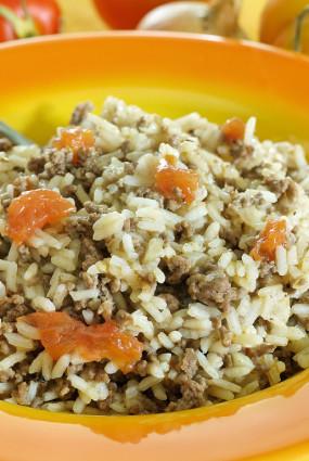 Garšaugu rīsi ar malto gaļu – Variācija par Arroz de Carreteiro