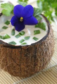 Tradicionāla taizemiešu zupa TOM KHA
