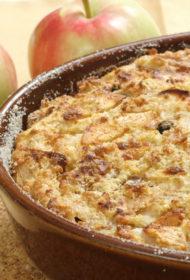 Klasiskais baltmaizes un ābolu pudiņš
