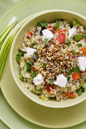 Raibie bulgura salāti