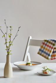 Dzidrināta burkānu buljona zupa ar dārzeņu sainīti
