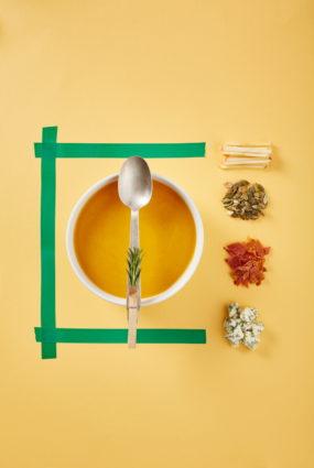 Ķirbju un ābolu zupa