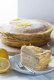 Pankūku torte ar lemon curd krēmu