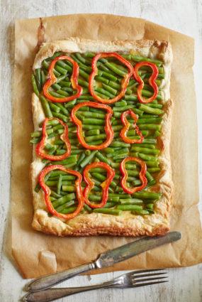 Zaļo pupiņu tarte