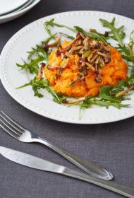 Saldo kartupeļu biezenis ar šmeji sēnēm