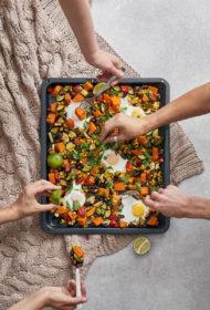 Brokastis ar rudens dārzeņiem