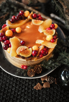 Dzērusī Ziemassvētku kūka