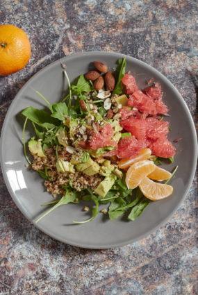 Kvinoja greipfrūtu sulā