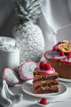 Marakujas un šokolādes kūka