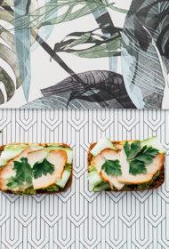 Lēni cepta cūkgaļas cepeša maizīte ar avokado