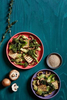 Pak choi un sezama salāti