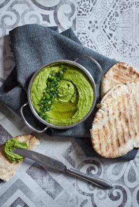 Pikantais zaļais humuss