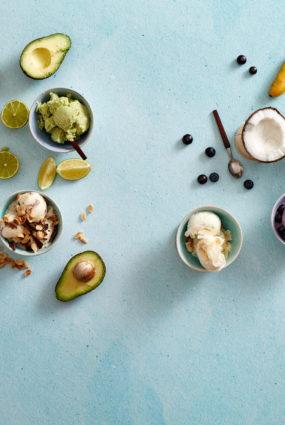 Avokado un laima saldējums