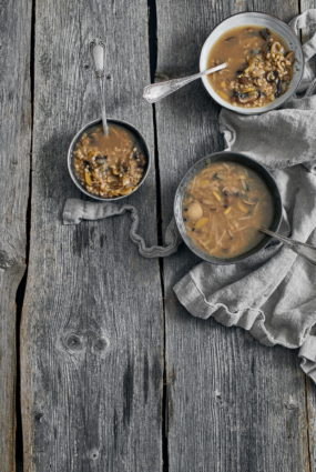 Sēņu un grūbu zupa