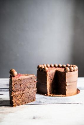 Biešu trifeļu kūka