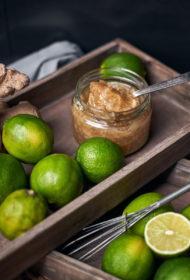 Laima, ingvera un malta koriandra džems ar Curacao liķieri