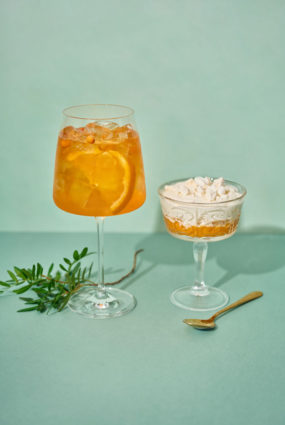 Orange Spritz ar smiltsērkšķu Eton Mess