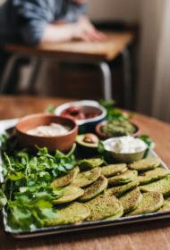 Zaļās turku zirņu pankūkas
