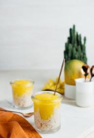 Rīsu pudiņš ar mango
