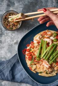 Haemul Pajeon jeb korejiešu pankūkas ar jūras veltēm