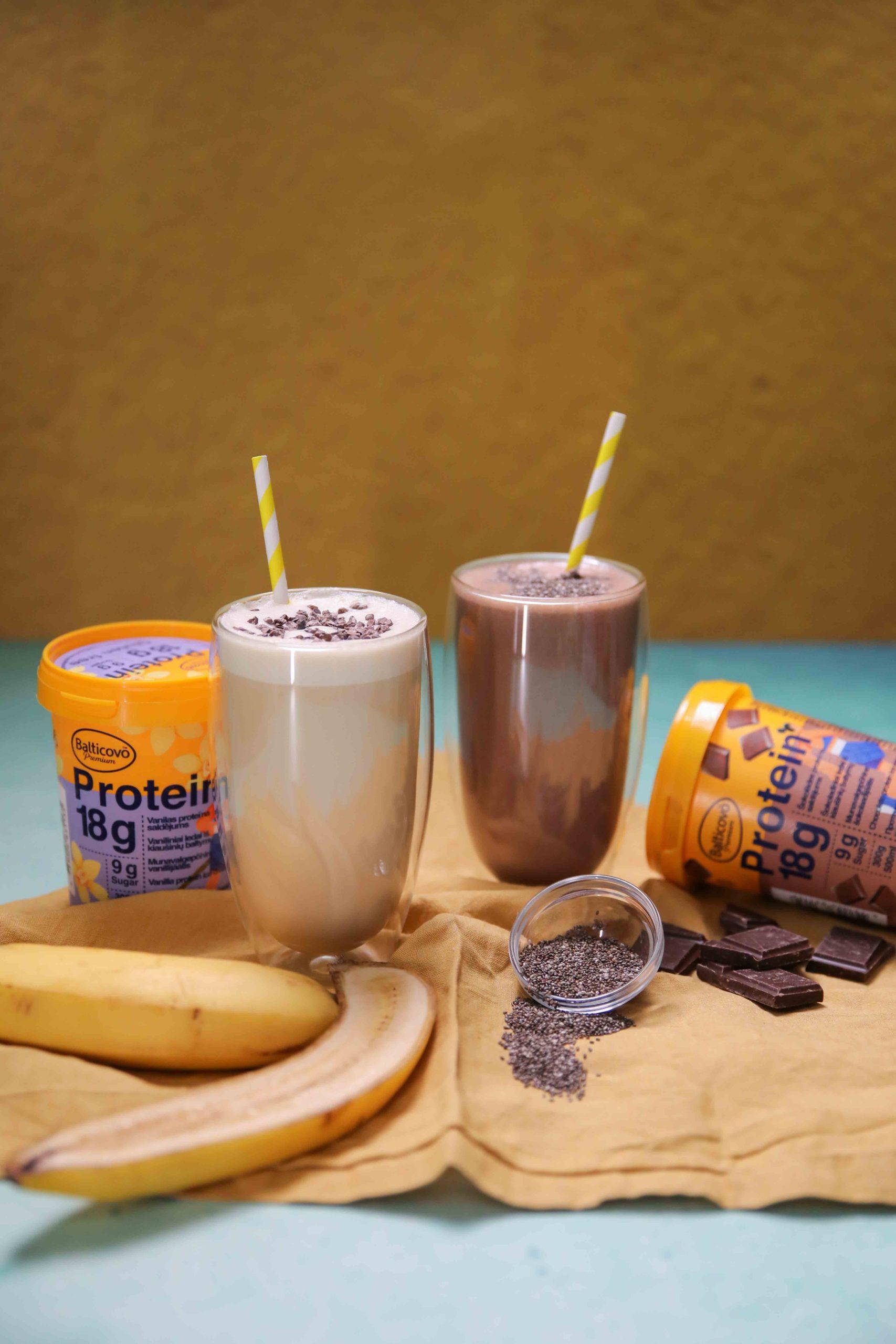 Proteīna saldējuma kokteiļi